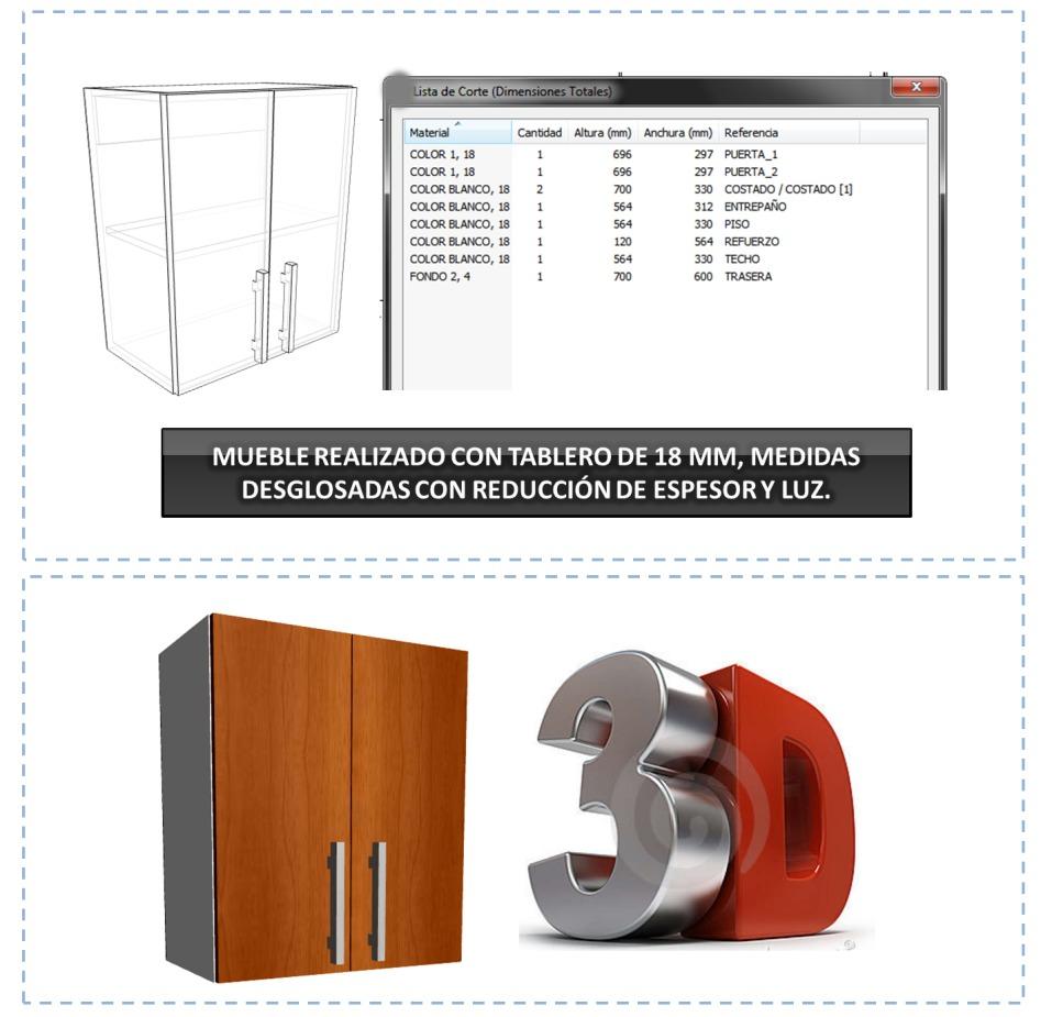 Polyboard 5 para crear y desglosar muebles cocina y for Programa para disenar tu cocina