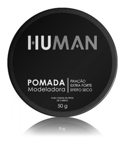 pomada cabelo modeladora, extra forte, efeito seco human 50g