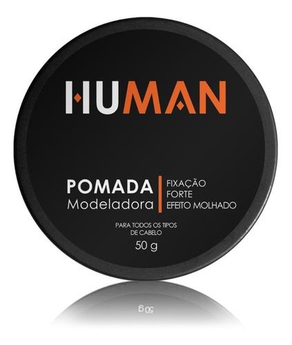 pomada modeladora d cabelo forte brilho efeito molhado human