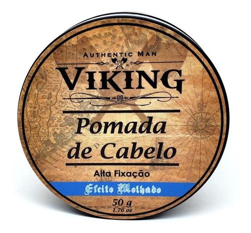 pomada modeladora para cabelo brilho efeito molhado - viking