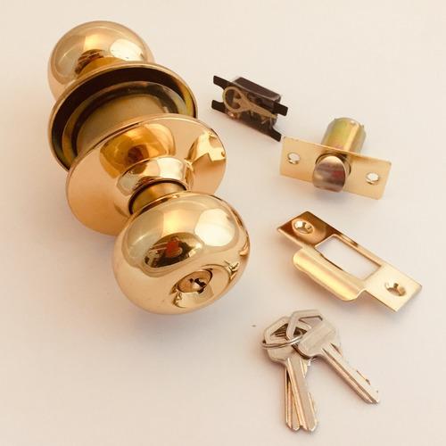 pomo de puerta bronce con llave o llavín