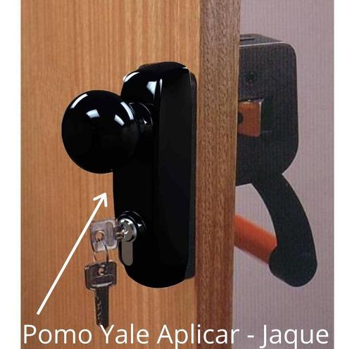 pomo jaque de acceso exterior para antipanico con llave yale