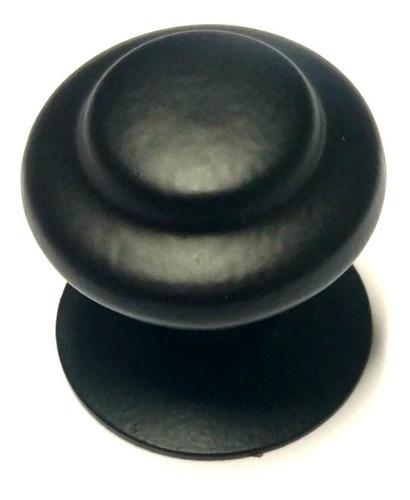 pomo roseta tirador de hierro negro 32mm cajoneras muebles