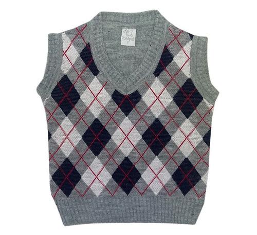 pompas - sweaters para chico / niños - chaleco rombos