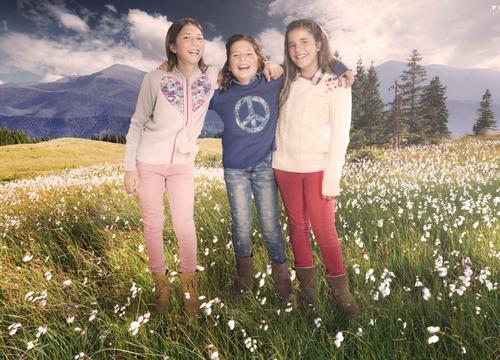 pompas - sweaters para chicos / niños - campera corazón