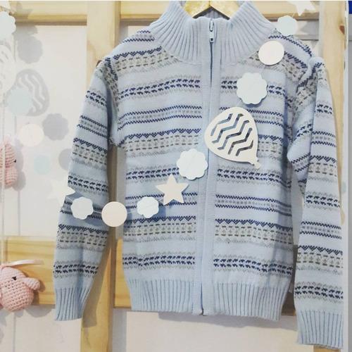 pompas - sweaters para chicos / niños - campera jacquard