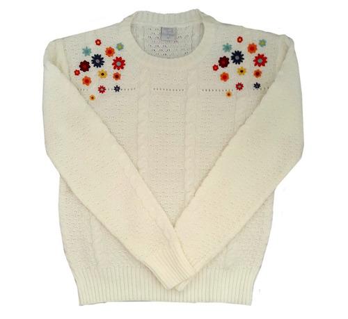 pompas - sweaters para chicos / niños - sweater bordado