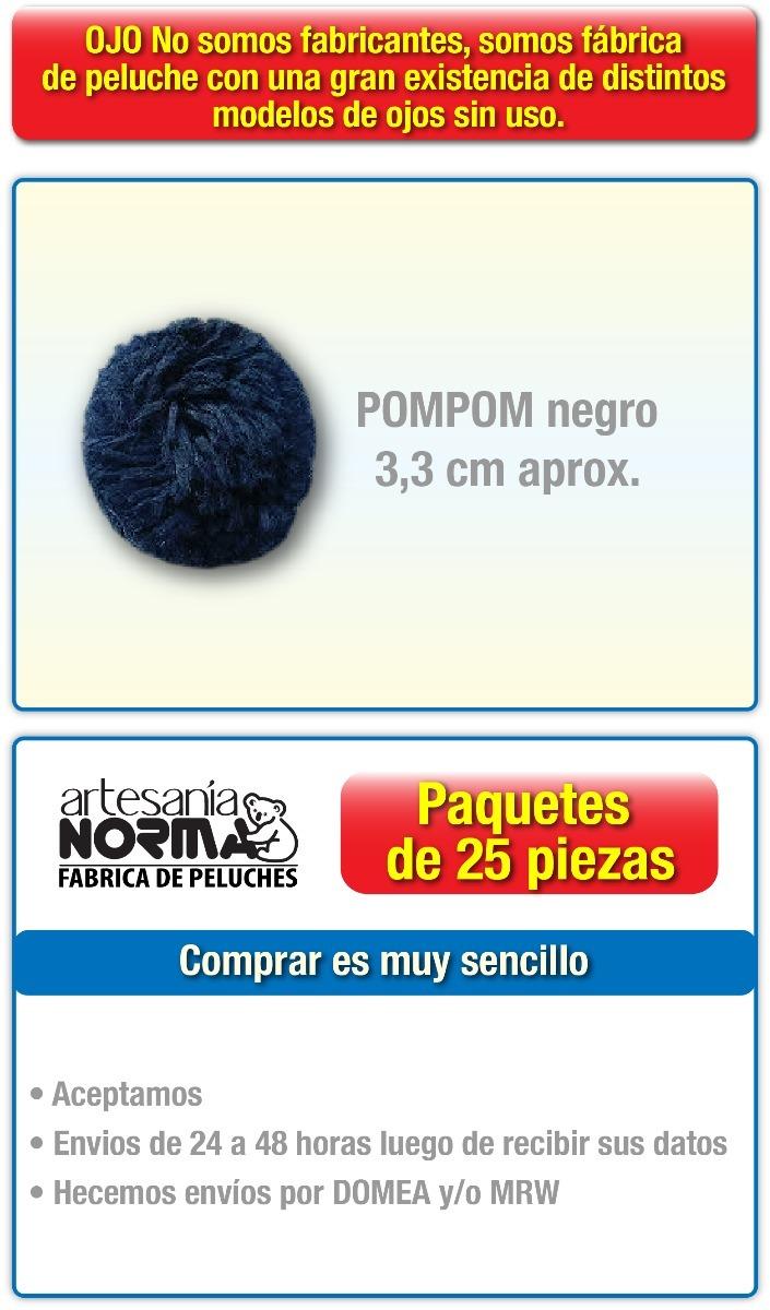 Pompom Y Nariz Para Manualidades Paquete De 25 Piezas - Bs. 49,00 en ...