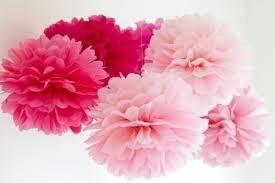 pompones de papel de seda 30,35 cm