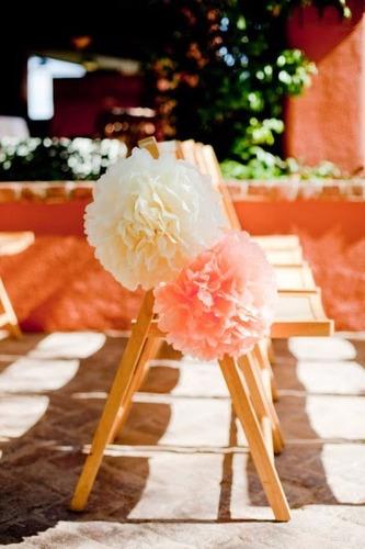 pompones de papel decora!!