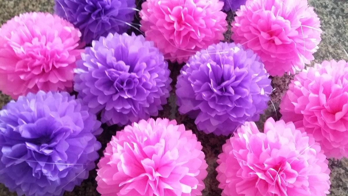 pompones de papel seda bs en mercado libre