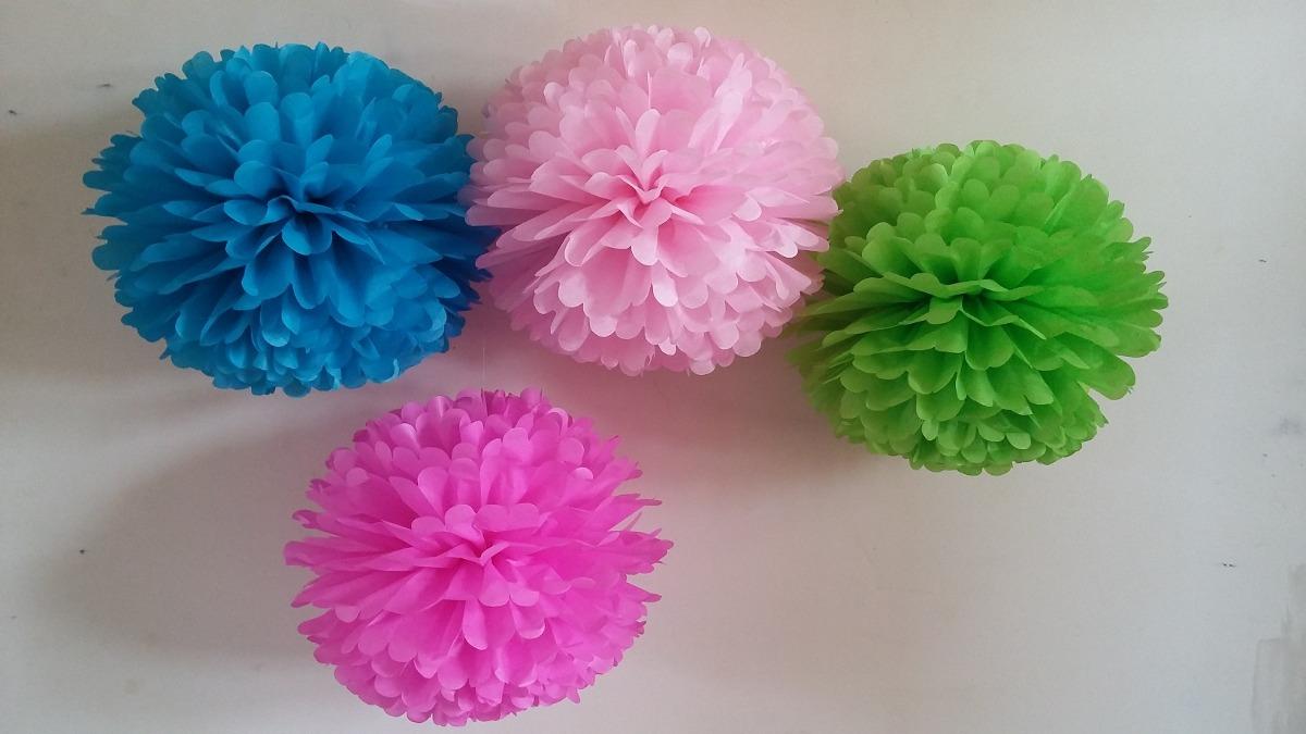 Pompones de papel seda bs en mercado libre - Pompones con papel de seda ...