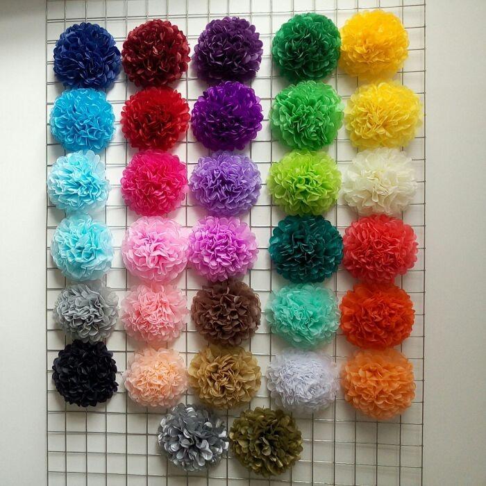 Pompones de papel seda decoraciones para fiesta s 2 - Decoraciones de papel ...