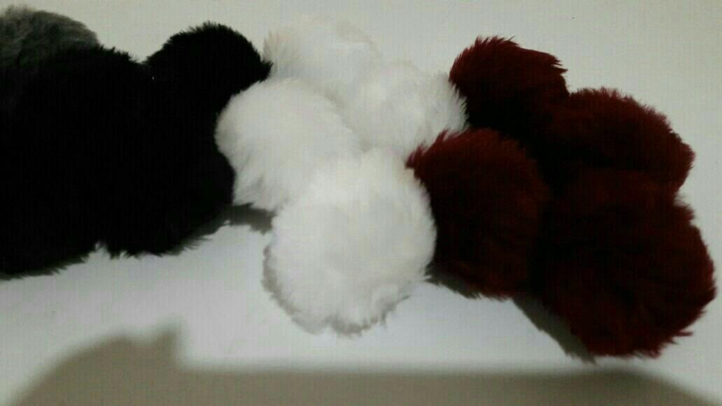 pompones de piel-peluche para accesorios-zapatillas-zapatos. Cargando zoom. d6ddf42e411