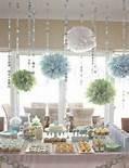 pompones de seda , para decoracion.