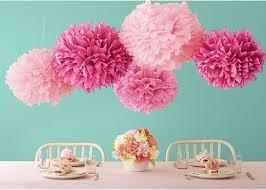 pompones, flores papel de seda en color y estampado
