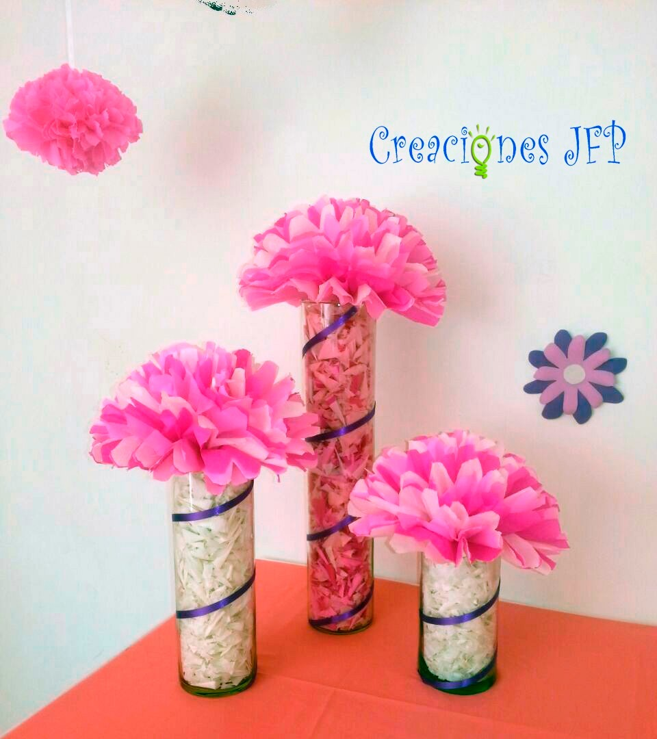 Pompones o bolas de papel para decoraci n de fiestas bs - Bolas de decoracion ...
