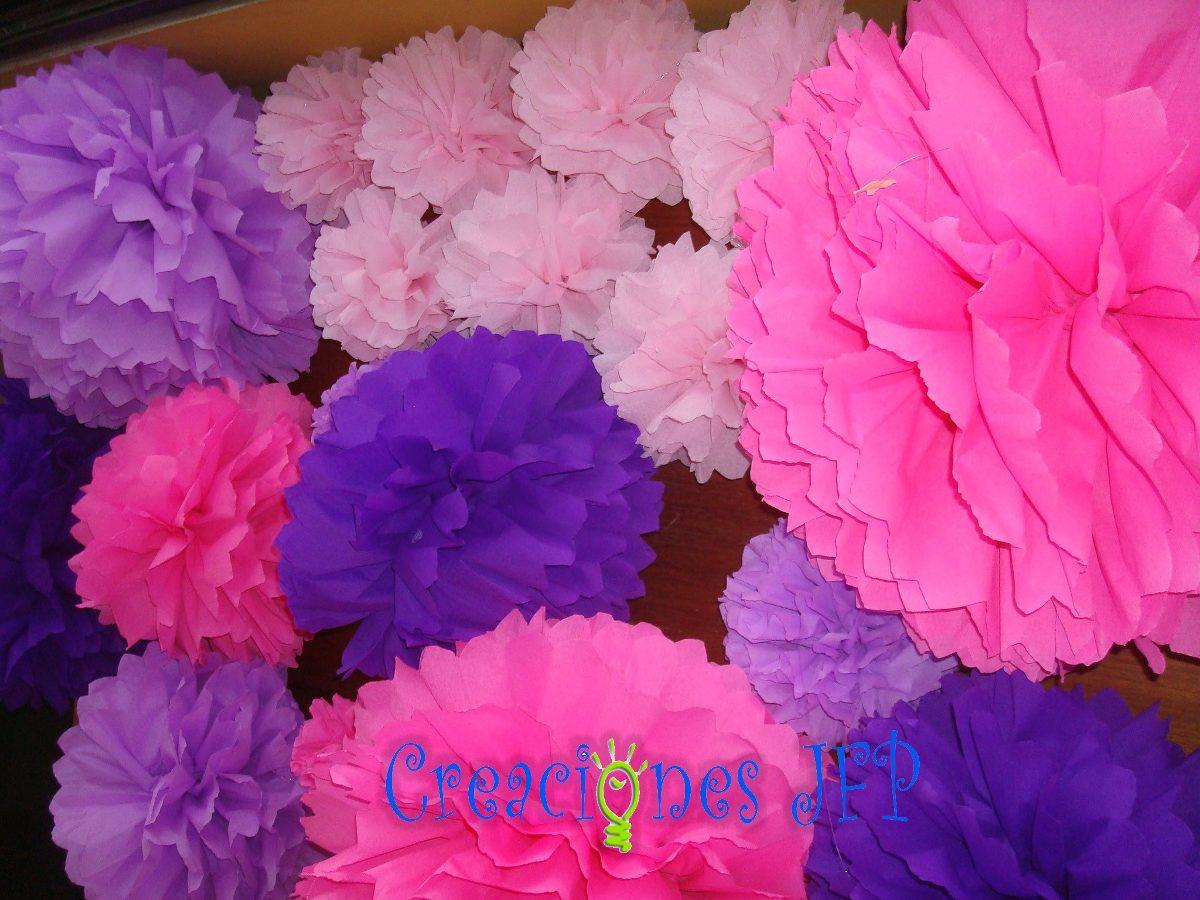 pompones o bolas de papel para decoracin de fiestas