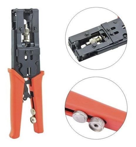 ponchadora cortador crimper kit coaxial bnc rca f rg59 rg6