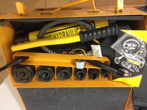 ponchadora hidraulica desde 1/2  hasta 2  incluye maleta