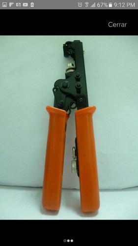 ponchadora o crimpadora cable coaxial