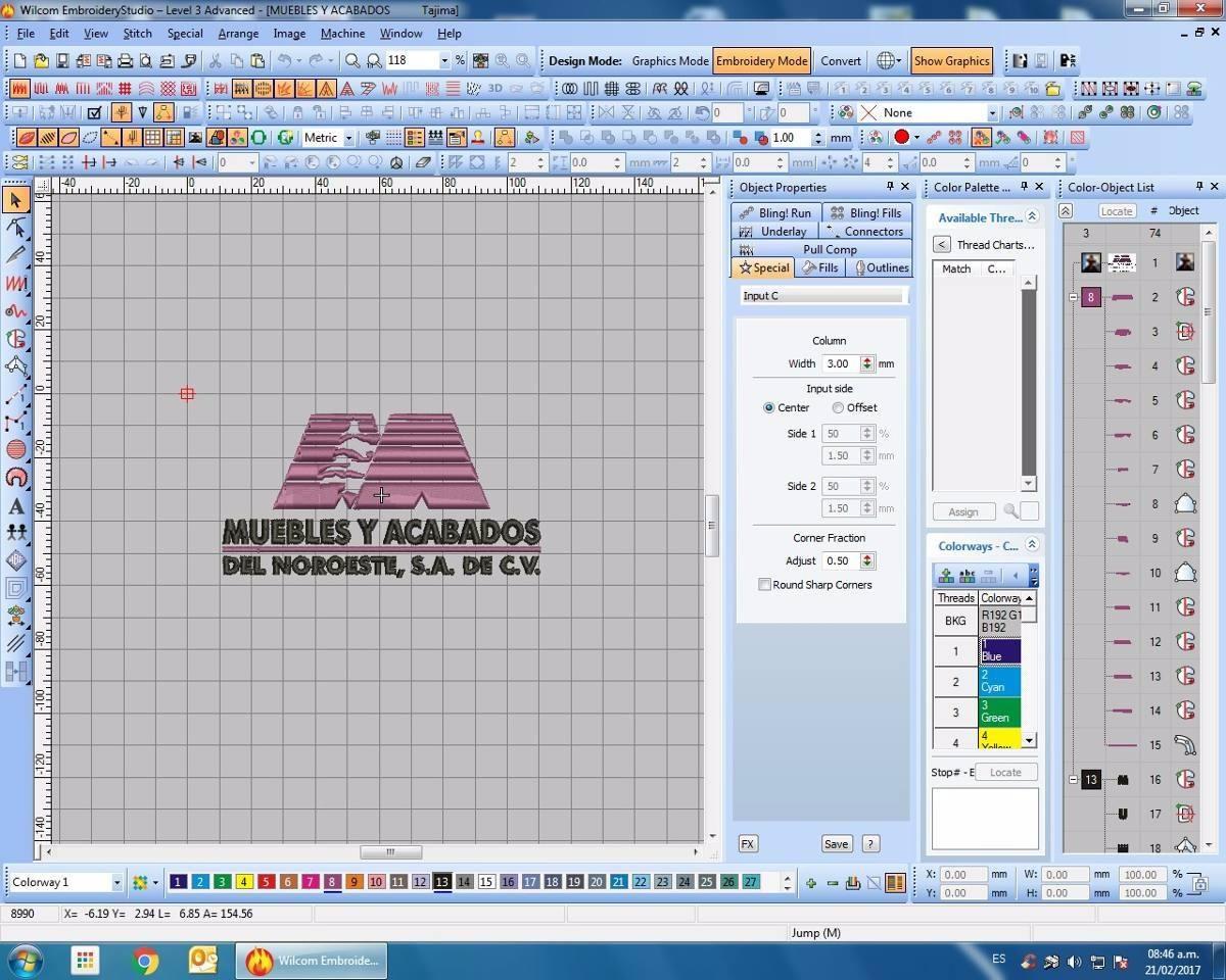 Ponchados Wilcom, Digitalizado, Bordados, Diseños 3d - $ 100.00 en ...