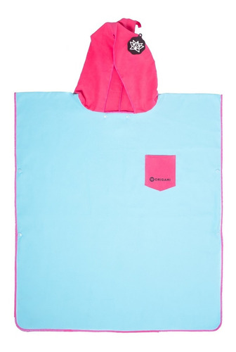 poncho bata toalla origami para niños playa microfibra