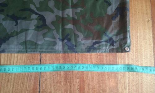 poncho de agua militar camo woodland