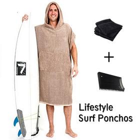 Poncho De Surf Roupão (tecido Atoalhado)  + Brindes
