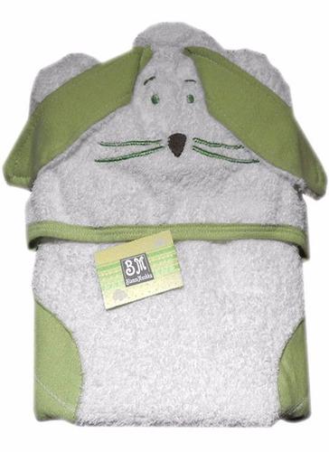 poncho de toalla con capucha bordada 100%algodon