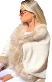 e7e71cf40ca55e Poncho Feminino .pelo Importado .roupas Femininas