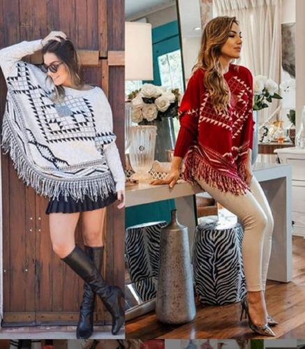 poncho feminino roupa