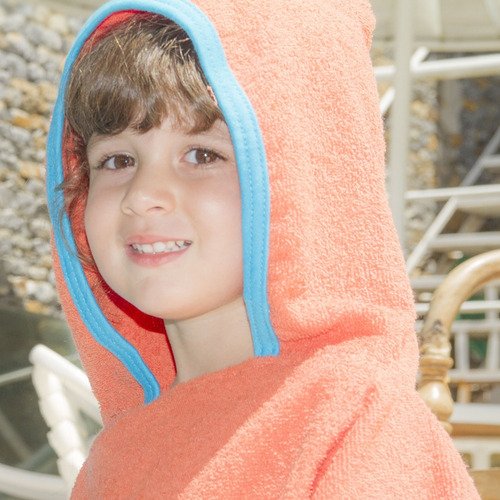 poncho infantil con capucha ama de casa sirenas niñas