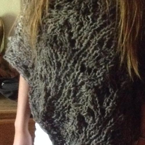 poncho lana chilota