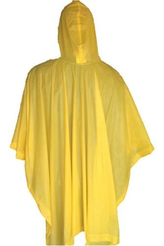 poncho lluvia agua pvc 100% impermeable amarillo azul-fran