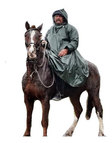 poncho resero pampero impermeable caballo cabalgata campo