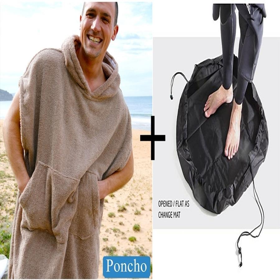 9cabc224ff8 Poncho Roupão + Wet Bag Saco De Surf + Frete Grátis Promoção - R ...