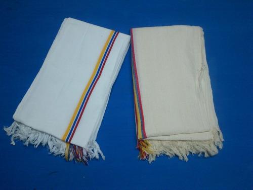 poncho sencillo para publicidad (blanco y beige) mayoristas