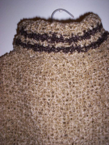 poncho tejido a mano telar lana polera niño niña 3 a 6 años