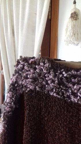 poncho tejido al telar
