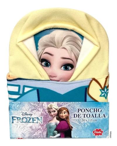 poncho toalla capucha microfibra piñata frozen toy story