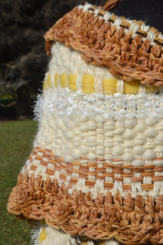 poncho/chal/ruana/telar/manta/ tejidos artesanales/crochet