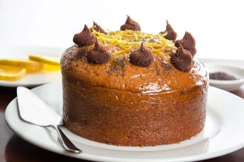 ponque torta express sabor a naranja y amapola