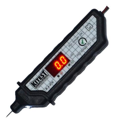 ponta de prova voltímetro digital tempo injeção polaridade