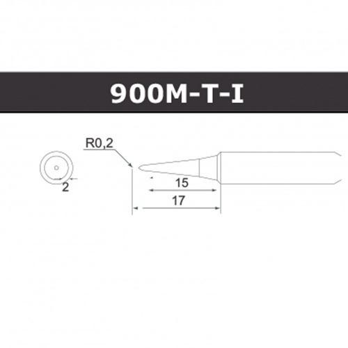 ponta de solda afr cônica 900-mti 0,2mm p/ afr 936/938