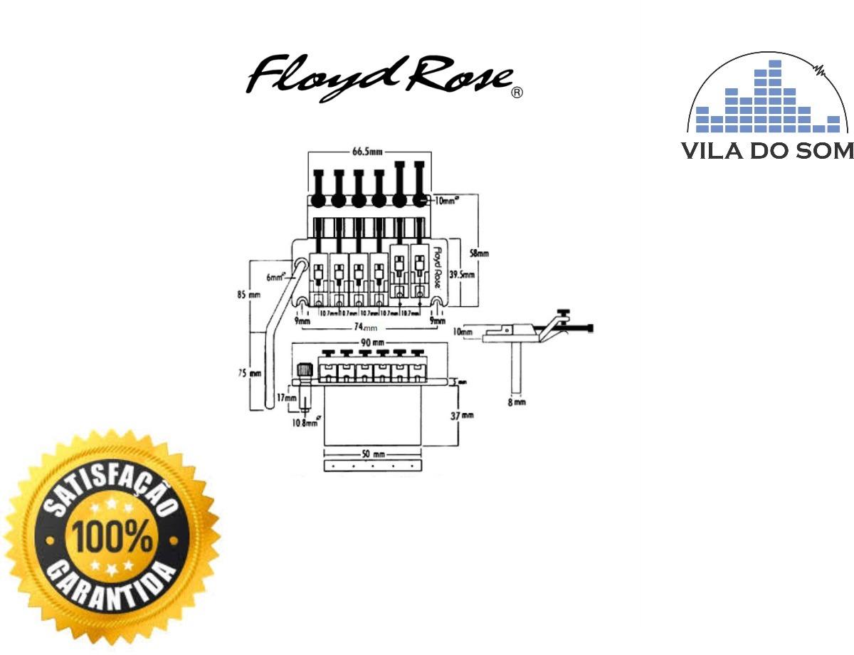 Ponte Floyd Rose Modelo Original 6 Cordas Preta Completa R 1550 Diagram Carregando Zoom