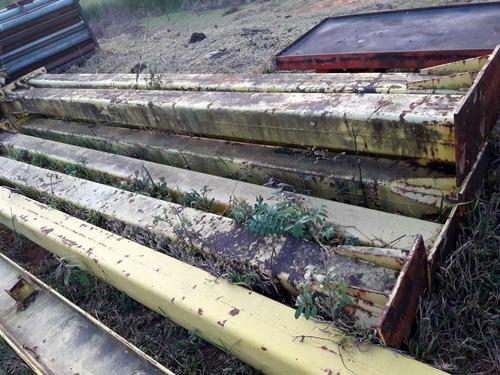 ponte rolante, estrutura, pilar de ferro, viga i