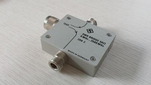 ponte vswr 2,5 ghz rohde schwarz zrb2 analisador espectro