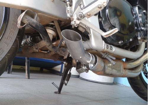 ponteira bandit 600/1200 até 2008 c/ flauta removível - inox