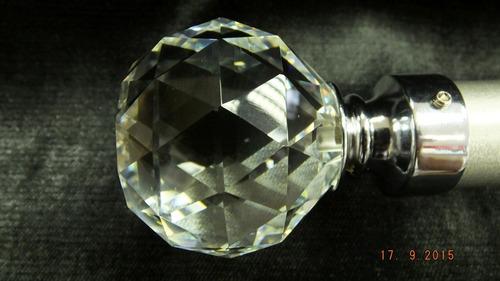 ponteira cristal para cortina varao 28mm acrílico diversas